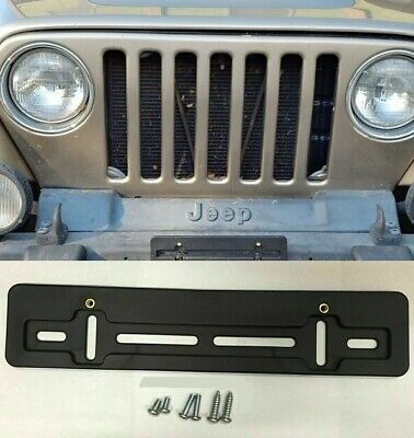 $5.95 • Buy Front License Plate Tag Holder Mounting Bumper Kit Bracket For JEEP & HUMMER New