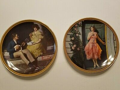 $ CDN33.33 • Buy Norman Rockwell Collector Plates Lot Of 2 Rediscovery Women Series Pre Owned