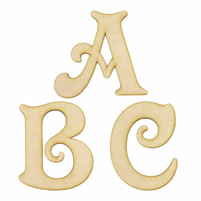 Victorian Font Wooden 3mm MDF Words Letters Numbers Alphabet Home Nursery Craft • 1.39£