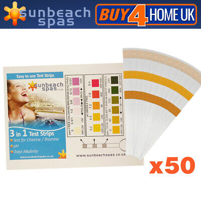 £6.49 • Buy 50 X Bromine Dip Test Strips For Hot Tubs, Lazy Spas And Swimming Pools