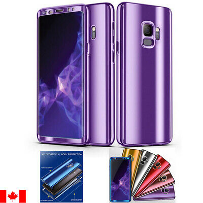 $ CDN7.49 • Buy 360° Plating Case Slim Mirror Full Cover For Samsung Galaxy S10 S9 S8 & Plus