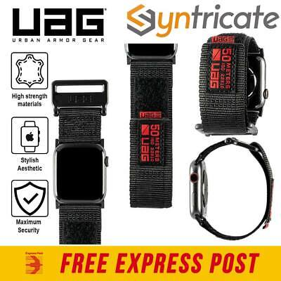 AU63.32 • Buy Apple Watch 44 Mm / 42 Mm (Series 1/2/3/4/5) UAG Active Watch Strap Band - Black