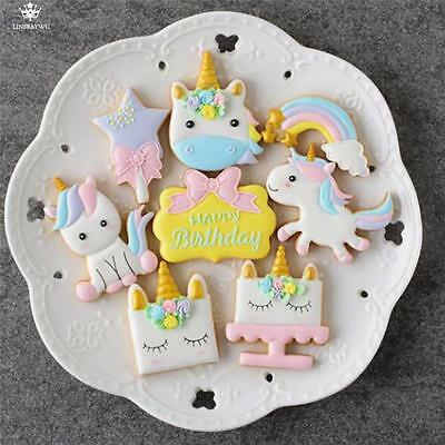 AU25.16 • Buy Unicorn Cookie Cutter Chocolate Cake Stencil Mold Biscuit Mold Baking Tool 8 Pcs