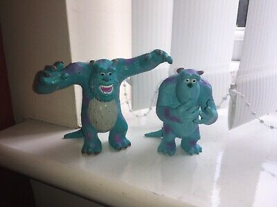 DISNEY PIXAR MONSTERS INC 2 X SULLEY FIGURES VGCC CAKE TOPPER • 9.99£