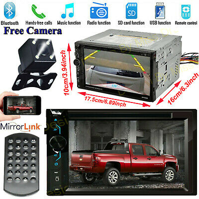 $145.21 • Buy Fits Chevy Silverado 1500 2500 3500 HD CD DVD Car Stereo 2DIN Mirrors-GPS+Camera