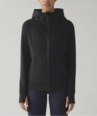 $ CDN65 • Buy LULULEMON ATHLETICA Black SCUBA HOODIE JACKET Coat *LIGHT COTTON Size 4 SMALL