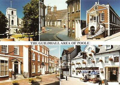 £1.99 • Buy New Postcard, Multi View, The Guildhall Area Of Poole, Dorset, The Angel Inn