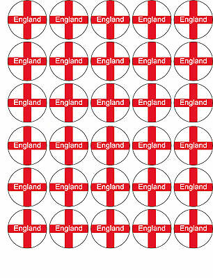 £1.99 • Buy  England  St George Flag Euro 2012 Edible Cup Cake Topper Decorations