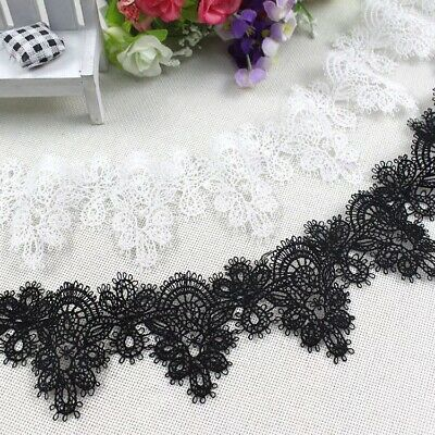 £2.59 • Buy Scallop Border Fine Embroidered LACE TRIM Sewing Ribbon Craft Bridal Dress C4