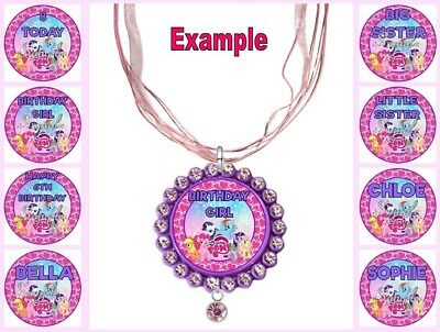 PERSONALISED My LITTLE PONY Any Name Message Childrens Custom Ribbon Necklace • 4.34£