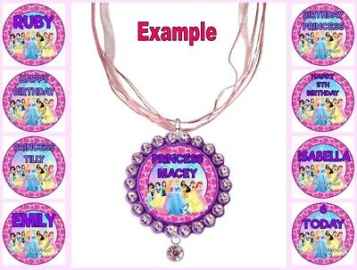 PERSONALISED DISNEY PRINCESSES Any Name Message Custom Ribbon Necklace Princess • 4.34£