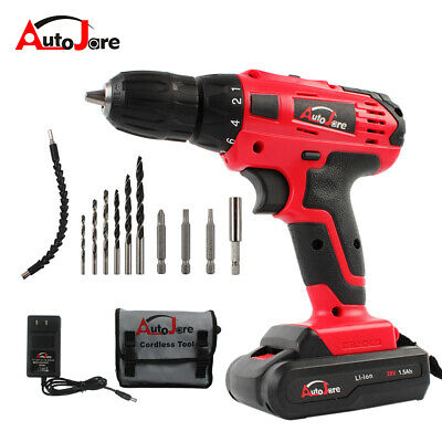 """View Details 3/8"""" Electric Cordless Drill Kit Driver Drill With Li-ion Battery Recharger 20V • 37.74$"""