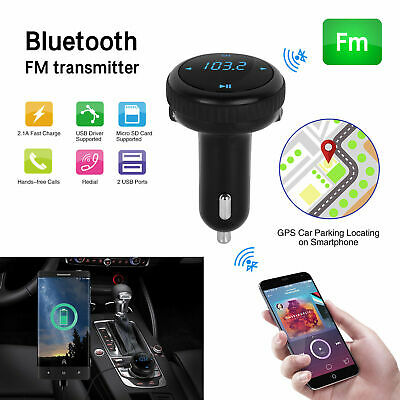 Bluetooth 4.2 Car Kit FM Transmitter Wireless Radio Adapter For Iphone 8 7 10 XR • 22.36£