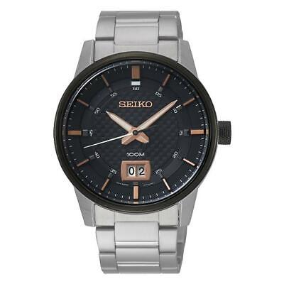 $ CDN195.99 • Buy Seiko Quartz Black Dial Men's Watch SUR285