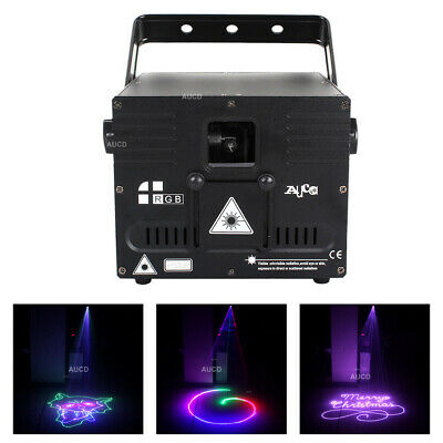 AU499.99 • Buy ILDA 1W RGB Animation Scan Laser Lights Disco DMX DJ Party Show Stage Lighting