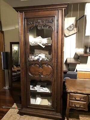 AU2900 • Buy Antique French Oak Bookcase Display Cabinet