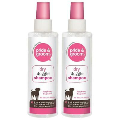 £5.99 • Buy 2X Dry Doggie Shampoo Pride & Groom Raspberry Scented Dog Cleans & Conditions