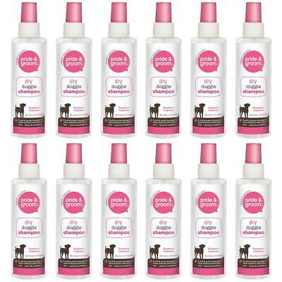 £16.99 • Buy 12X Dry Doggie Shampoo Pride & Groom Raspberry Scented Dog Cleans & Conditions