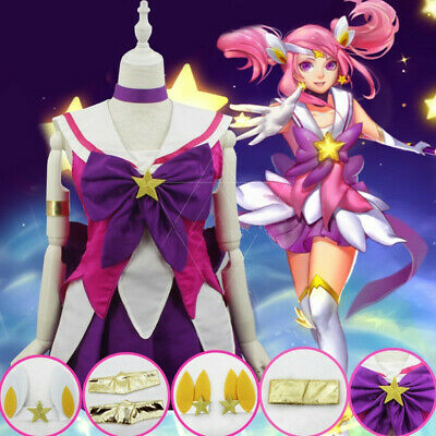 $ CDN49.97 • Buy LOL League Of Legends Star Guardian Lux Purple Lolita Dress Cosplay Costume Set