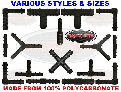Windscreen Washer Jet Joiner Connector T Y X Elbow Straight Hose Fitting Mender • 1.99£