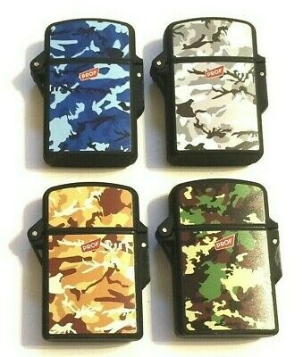 £3.95 • Buy Windproof Turbo Jet Flame Gas Refillable Cigarette Army Camouflage Black Lighter