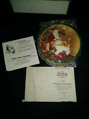 $ CDN18.99 • Buy Christmas Norman Rockwell Plate  Santa's Workshop  3D Numbered 2823A