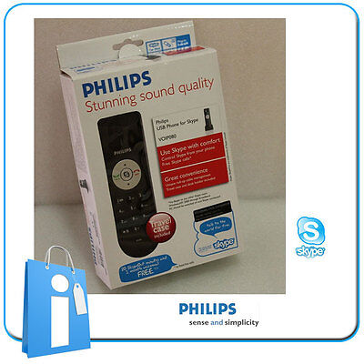 Headset Style Phone Voip Skype Philips VOIP080 Phone For Computer PC • 7.58£