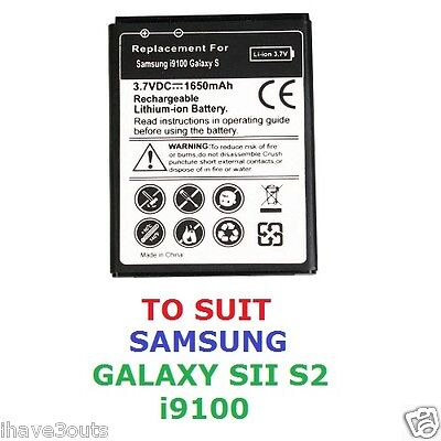 AU11 • Buy Samsung Galaxy S2 SII I9100 1650mAh High Quality Replacement Battery S 2 II