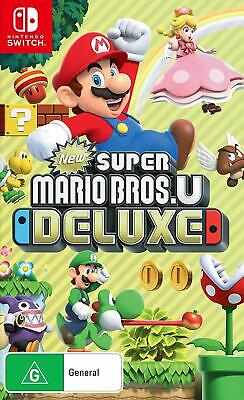 AU99 • Buy New Super Mario Bros U Deluxe Nintendo Switch NS Fun Family Kids Adventure Game