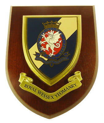 Royal Wessex Yeomanry Classic Hand Made In The Uk Regimental Wall Plaque • 19.99£
