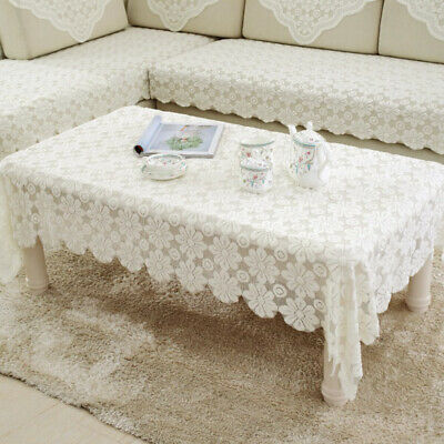 £9.64 • Buy Home Tablecloth Lace Flower Pattern Table Cloth Solid Color Table Cover S-XL