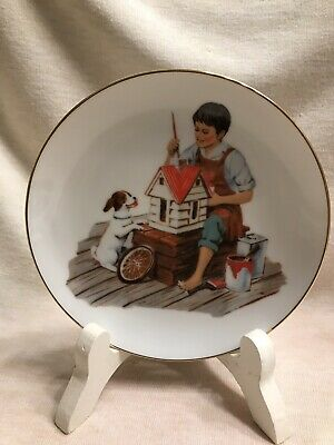 $ CDN18.97 • Buy Lot Of Two Gold Rim Norman Rockwell 6.5 Inch Collector Plates