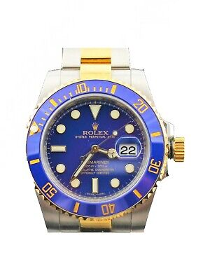 $ CDN19550.16 • Buy Rolex Submariner 116613 18k Gold Ceramic Mens 40mm Auto Blue Watch Box Papers
