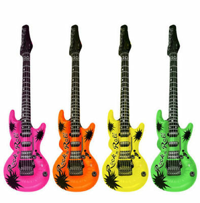 Inflatable Music Instruments Guitar COLOURFUL BLOW UP PART Random Color • 2.99£