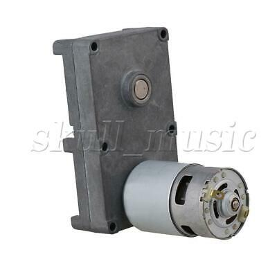 AU67.26 • Buy 12V 2.5RPM Silver Metal Square Torque Reduction Electric Gearbox Motor