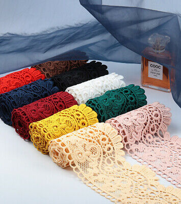 £2.99 • Buy 40 DESIGNS! Embroidered Venise Lace Edging TRIM Sewing Craft Upholstery Costume