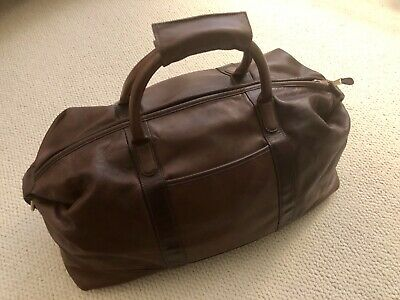 $299 • Buy Authentic Vintage Coach Brown Glove-tanned Calf Leather Weekender Carry On