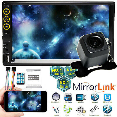 $64.20 • Buy Car Stereo Radio AUX Bluetooth Mirrorlink-GPS For Chevy GMC Truck Pickup SUV+Cam