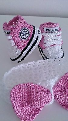 Baby Crochet Hand Shoes Trainers Sneakers Clothes Socks Hats Caps Boots • 5.99£