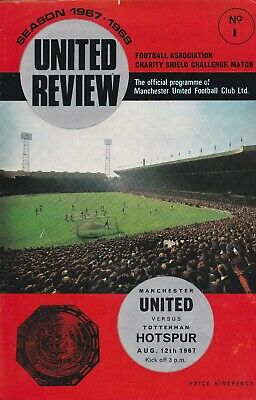 Manchester United Home Programmes 1967-1968 ~ You Choose Opponents Free Postage • 2.49£