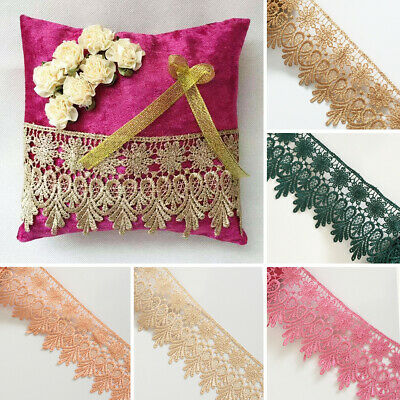 £2.99 • Buy Guipure Venice Lace Trim Bridal Upholstery Boho Vintage Sewing Craft DIY Crown