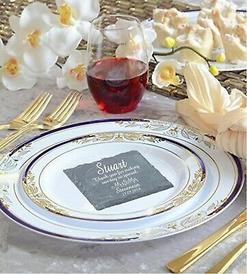 £30 • Buy Personalised Wedding Favours, Slate Coasters Engraved Wedding Favours Guests
