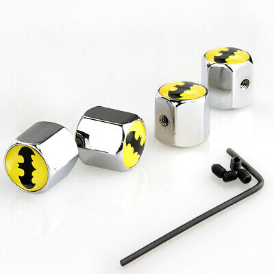 AU5.36 • Buy 4pcs Auto Car Wheel Tyre Tire Batman Logo Style Valve Stem Dust Cap Accessories