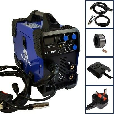Mig 140a Igbt Inverter Dc Welder 2-in-1 Mma Gas Gasless Wire Arc Welding Machine • 199.99£