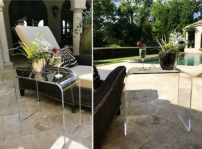 $169 • Buy 21 X 12 X 21  High X 1/2  Clear  Acrylic END TABLE Lucite Occasional