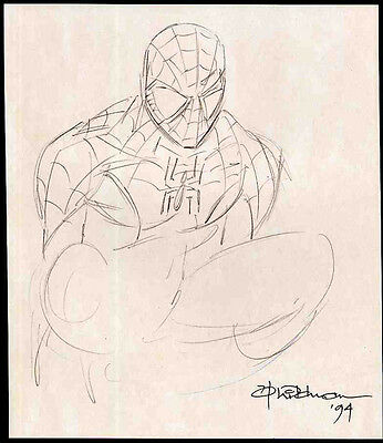 Spider-man Repro 1994 Andrew Wildman Sketch Illustration . Marvel Comics Not Dvd • 4.99£