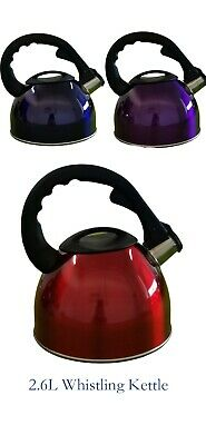 AU30.80 • Buy 2.6L Stainless Steel Whistling Tea Kettle Home Camping 3colors Cooktop Stove Gas