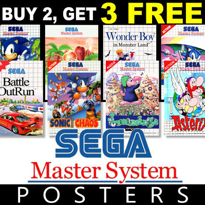 £4.99 • Buy Sega Master Game Posters Collection, A4 270gsm, A3 270gsm Poster Prints, Art