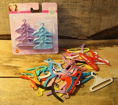 $ CDN24.99 • Buy Vintage Mattel Barbie Doll Clothes Hanger Lot Hangers New In Package + 30 Mixed