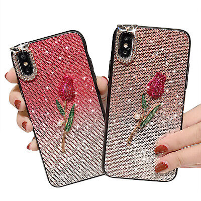 AU7.02 • Buy For IPhone 8 7 Plus XS MAX XR X Shockproof Rose Cute Girls Phone Cover Case